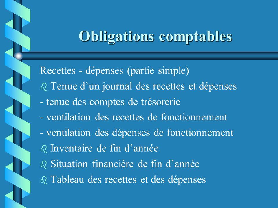 Obligations comptables Seuils : b b aide municipale > à 50% du budget (OC) b b subvention > 23 000 (convention + OC) b b cumul annuel des aides > 153