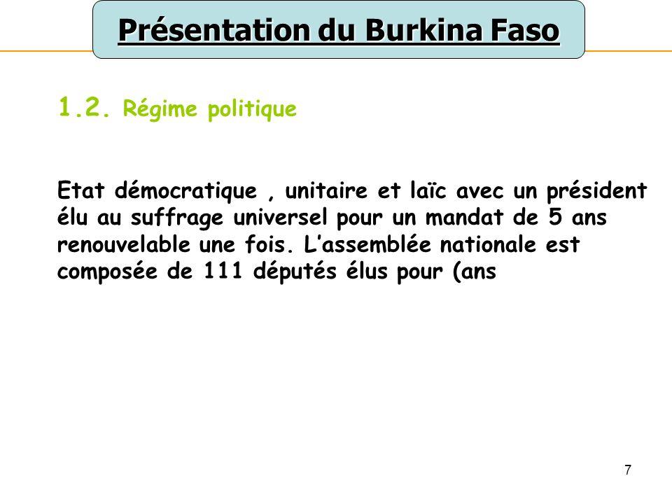7 Présentation du Burkina Faso 1.2.
