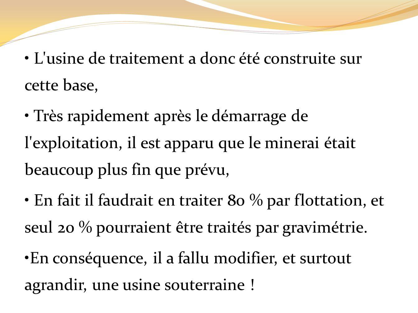 LE RYTHME DE PRODUCTION 3. Les autres paramètres dun projet minier LA TENEUR DE COUPURE