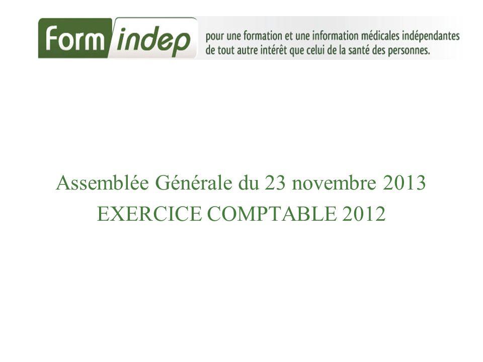 Assemblée Générale du 23 novembre 2013 EXERCICE COMPTABLE 2012