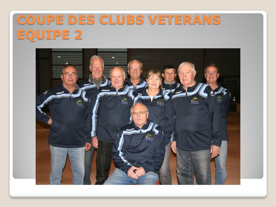 COUPE DES CLUBS VETERANS EQUIPE 2