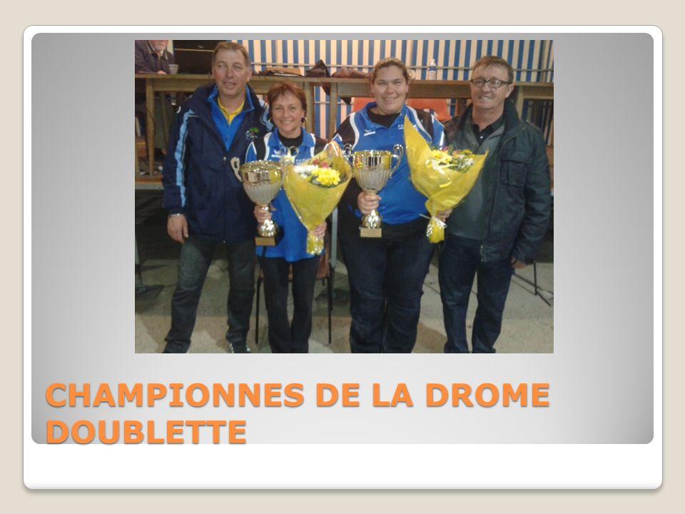 CHAMPIONNES DE LA DROME DOUBLETTE
