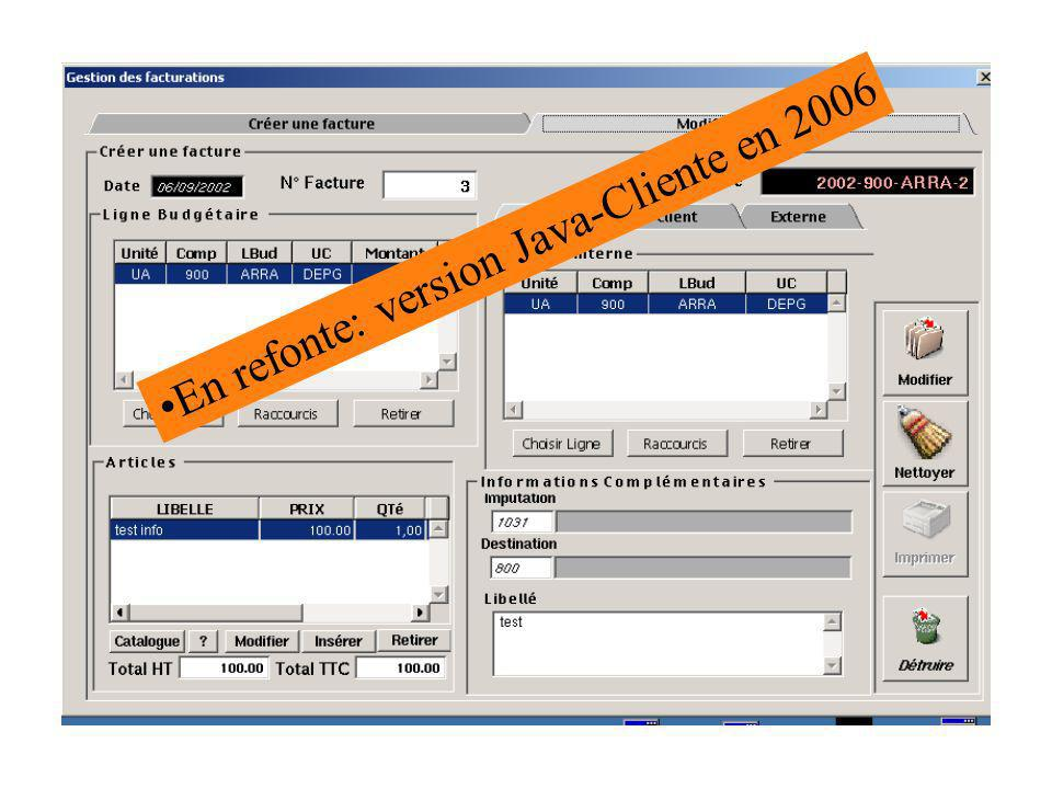 En refonte: version Java-Cliente en 2006