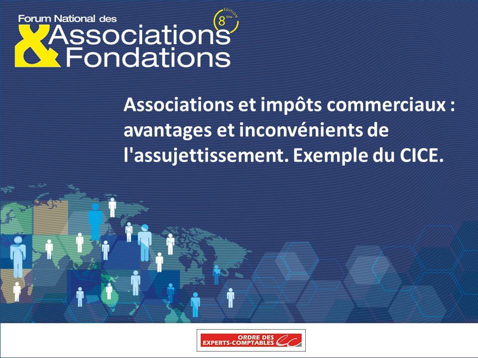 Associations et impôts commerciaux : avantages et inconvénients de l'assujettissement. Exemple du CICE.