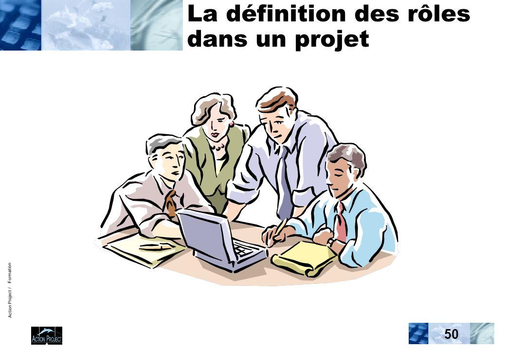 Action Project / Formation 50 La définition des rôles dans un projet