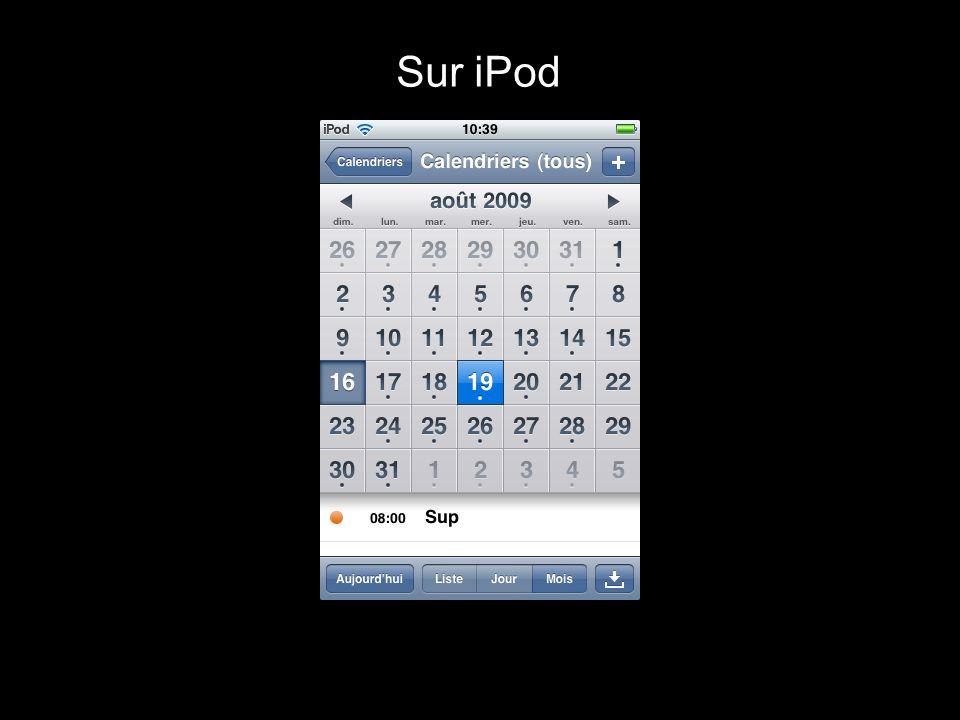 Sur iPod