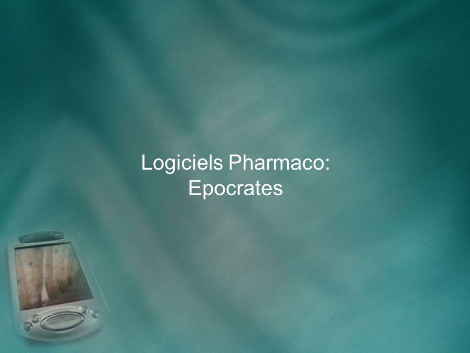 Logiciels Pharmaco: Epocrates