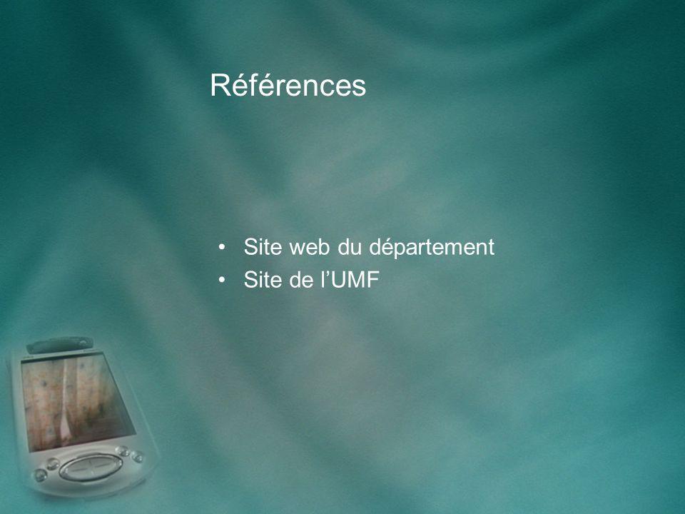 Références Site web du département Site de lUMF