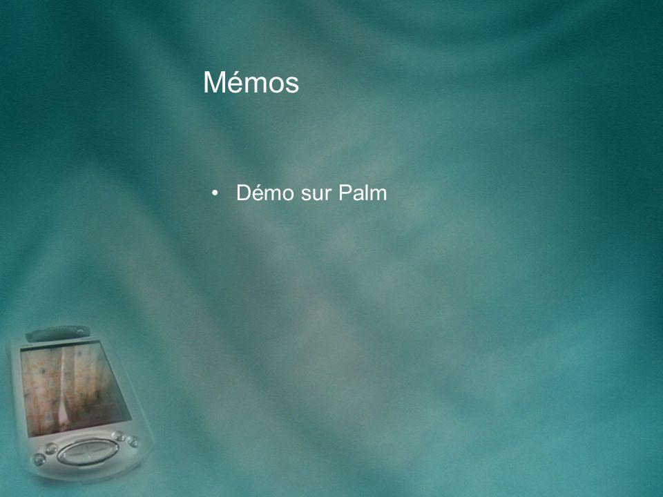 Mémos Démo sur Palm