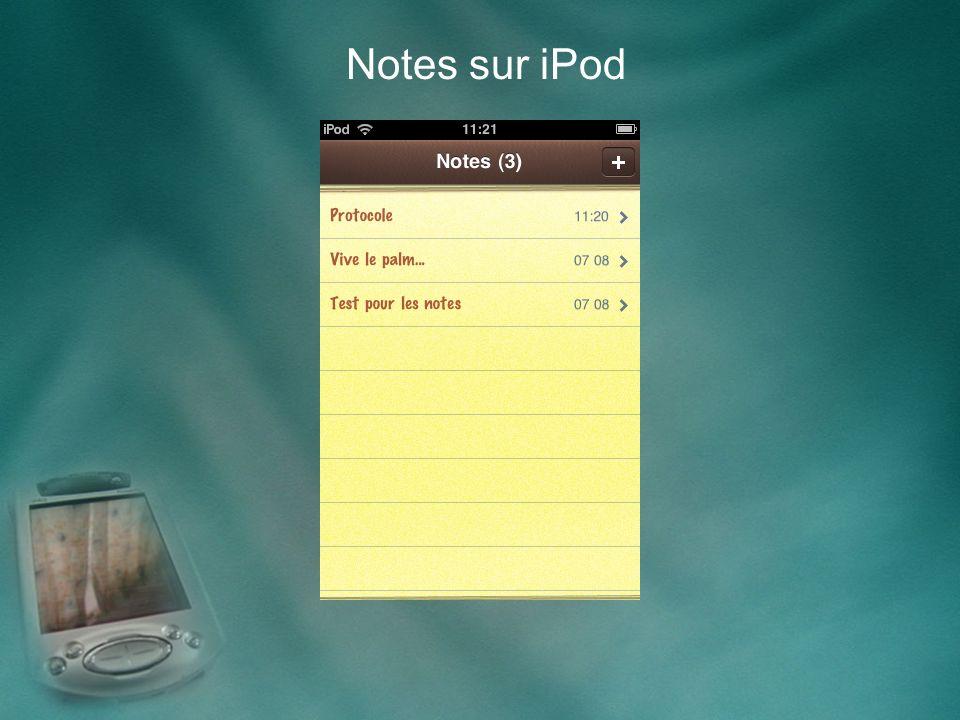Notes sur iPod