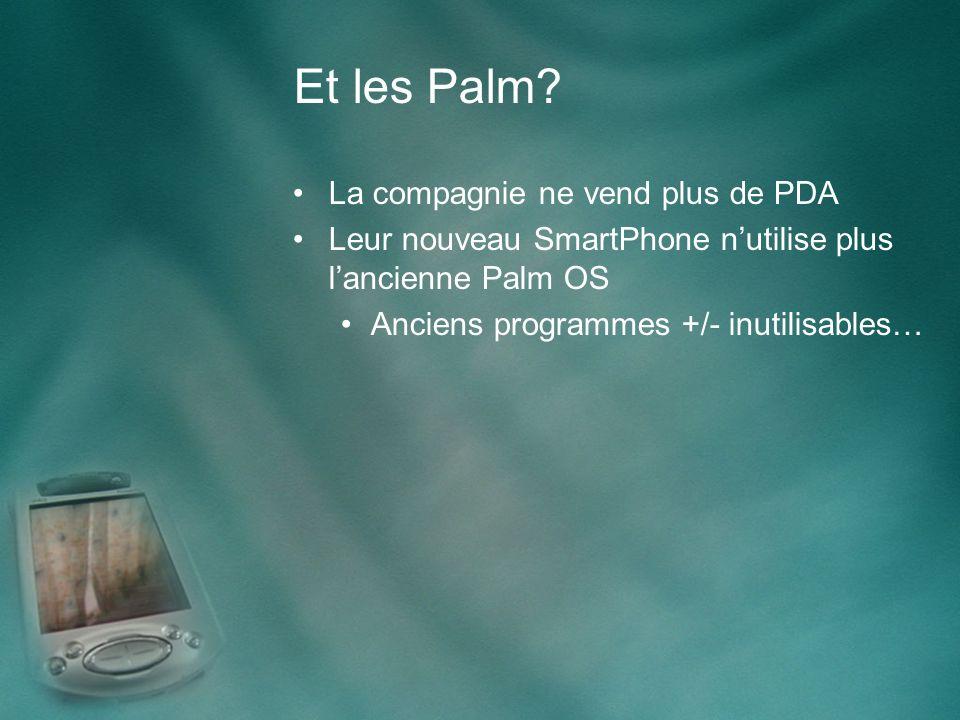 Contacts Démo sur Palm