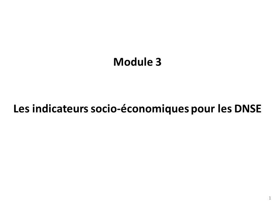 Module 3 Les indicateurs socio-économiques pour les DNSE 1