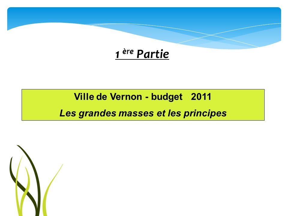 Ville de Vernon - budget 2011 Les grandes masses et les principes 1 ère Partie