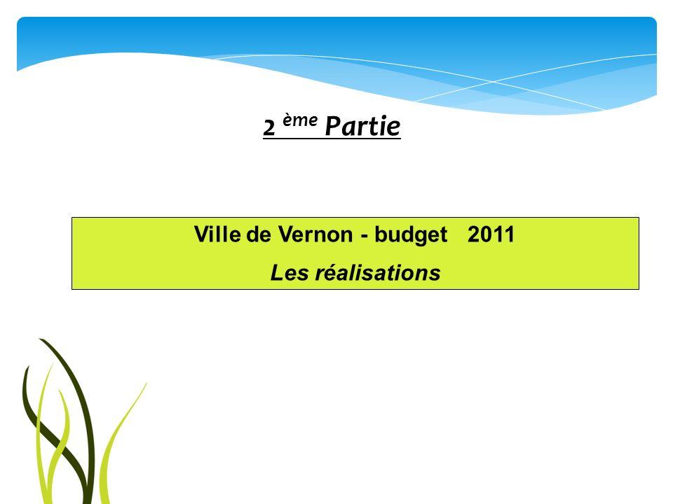Ville de Vernon - budget 2011 Les réalisations 2 ème Partie
