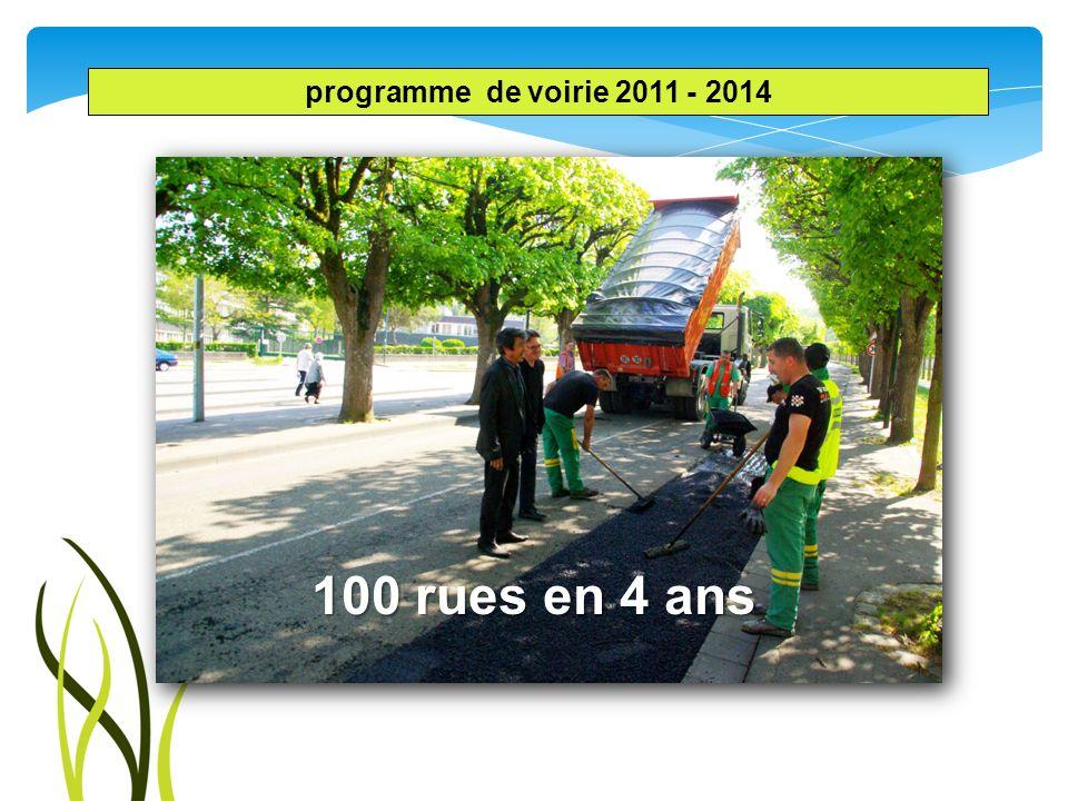 100 rues en 4 ans