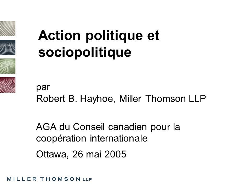 Action politique et sociopolitique par Robert B.