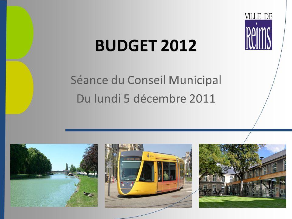 BUDGET 2012 Séance du Conseil Municipal Du lundi 5 décembre 2011