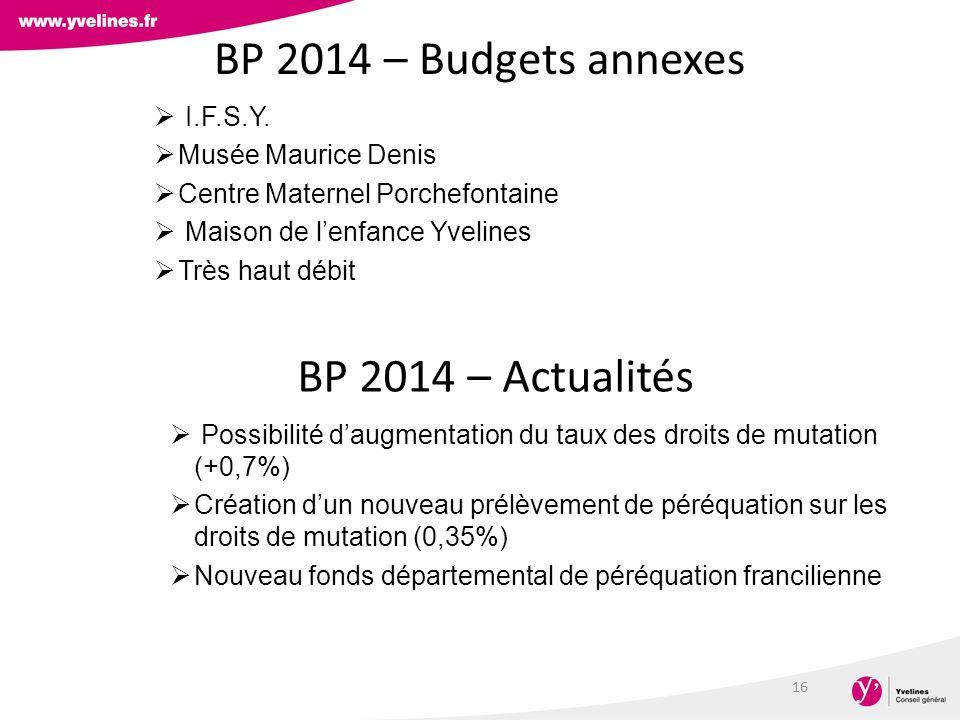 BP 2014 – Budgets annexes I.F.S.Y.