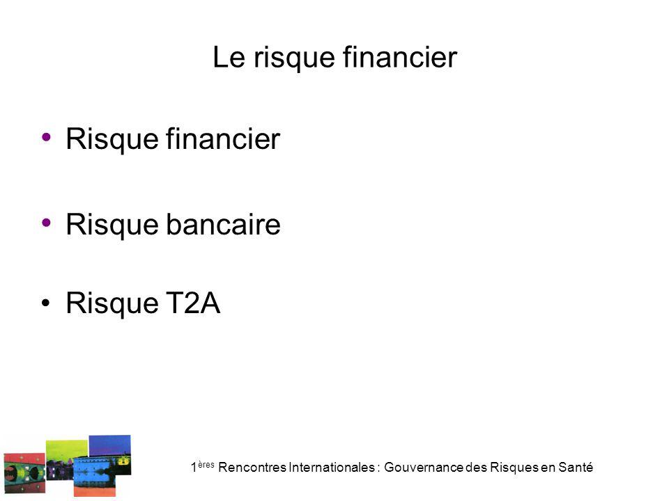 1 ères Rencontres Internationales : Gouvernance des Risques en Santé Le risque financier Circulaire DHOS/F2 no 2008-233 du 16 juil.