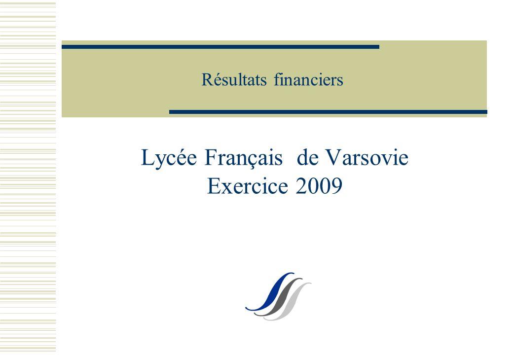 Résultats financiers Lycée Français de Varsovie Exercice 2009