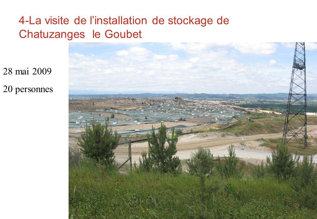 4-La visite de linstallation de stockage de Chatuzanges le Goubet 28 mai 2009 20 personnes