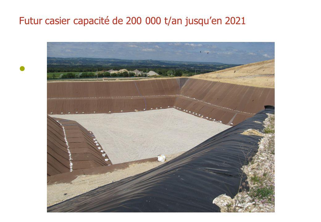 Futur casier capacité de 200 000 t/an jusquen 2021