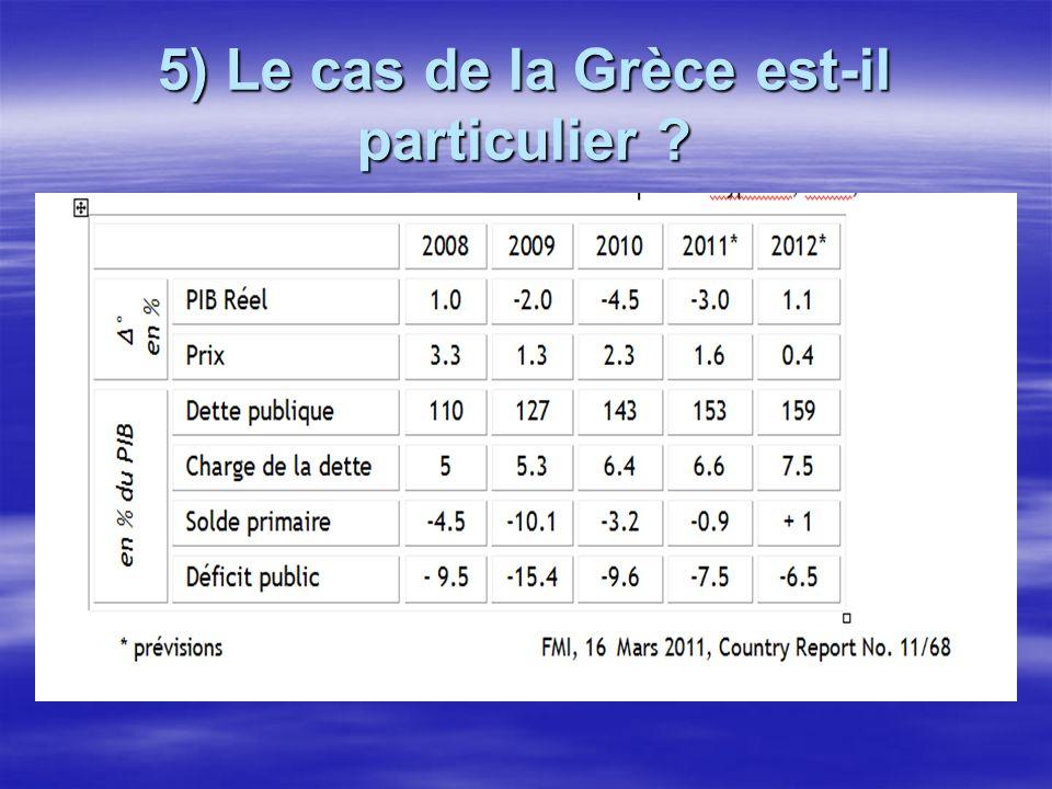 5) Le cas de la Grèce est-il particulier ?