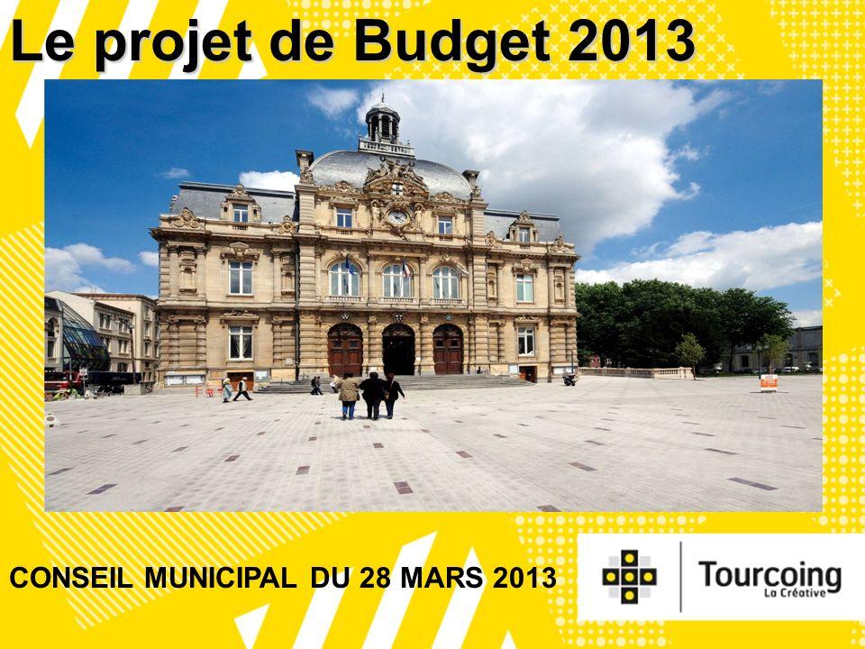 1 Le projet de Budget 2013 CONSEIL MUNICIPAL DU 28 MARS 2013