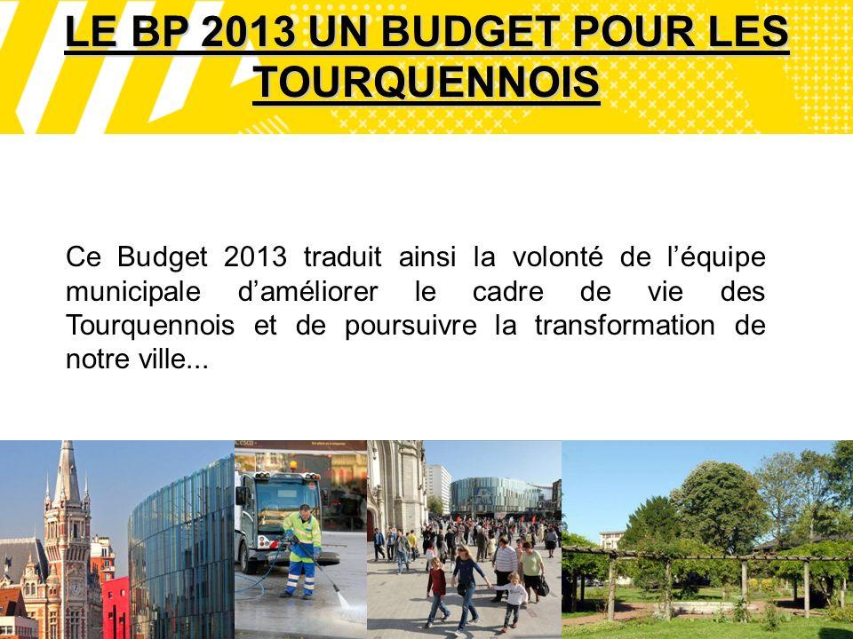 10 LE BP 2013 UN BUDGET POUR LES TOURQUENNOIS Ce Budget 2013 traduit ainsi la volonté de léquipe municipale daméliorer le cadre de vie des Tourquennois et de poursuivre la transformation de notre ville...