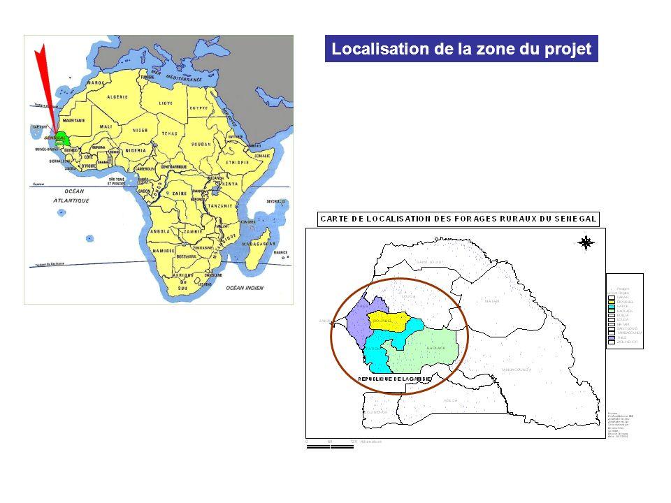 Le Sénégal Localisation de la zone du projet