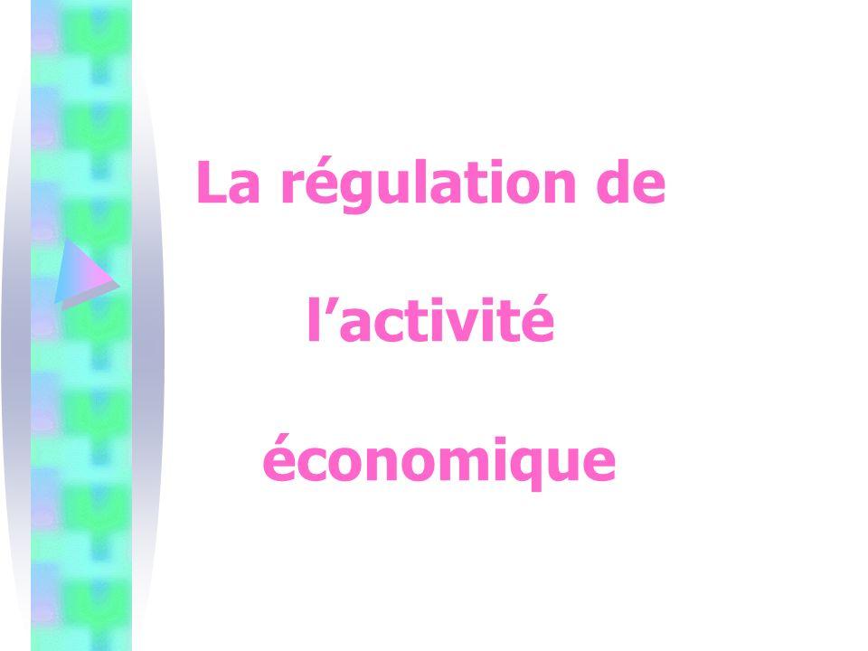 La régulation de lactivité économique