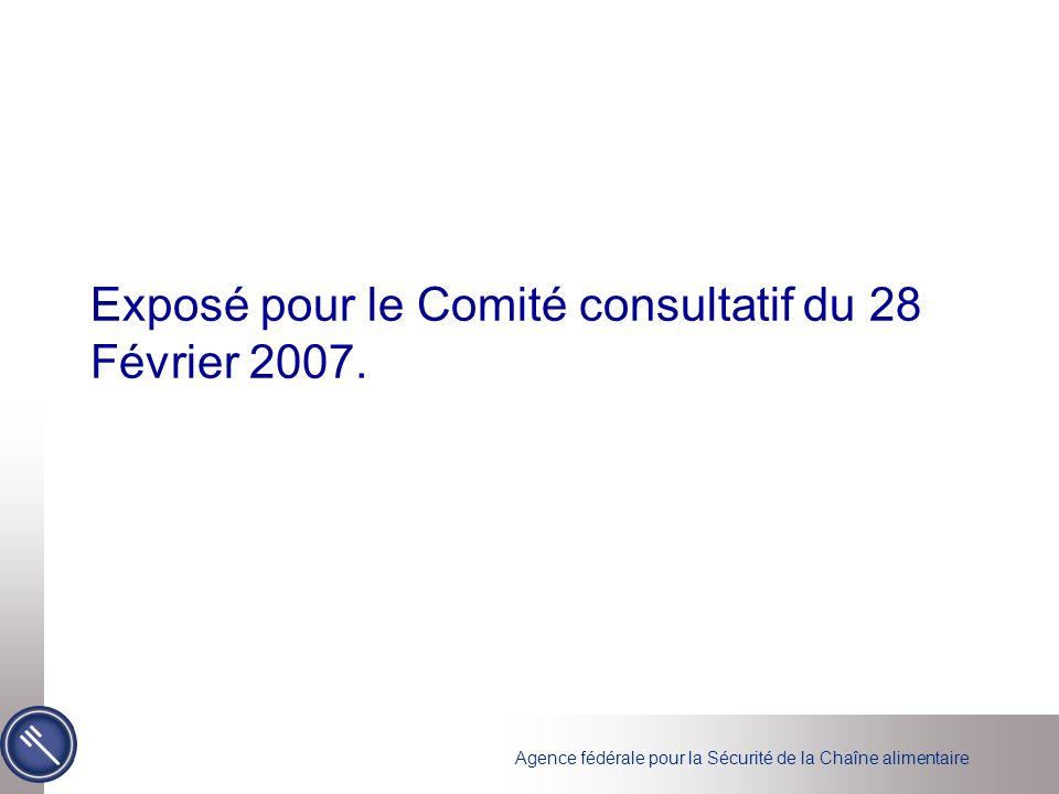 Exposé pour le Comité consultatif du 28 Février 2007.