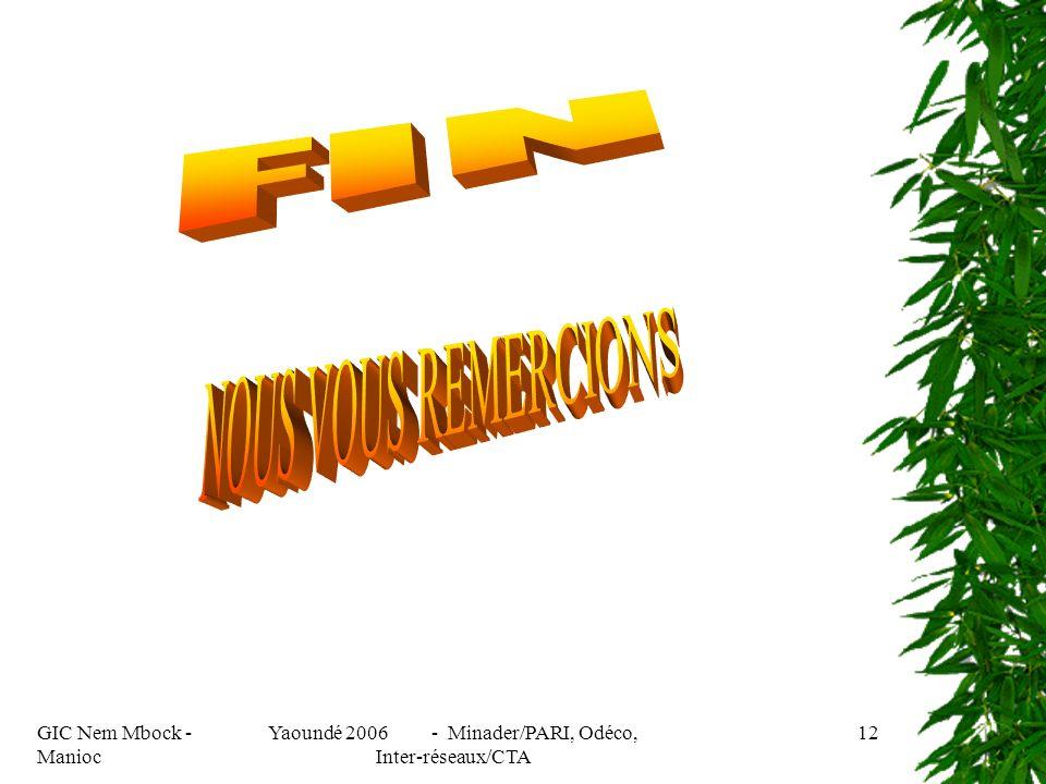 GIC Nem Mbock - Manioc Yaoundé 2006 - Minader/PARI, Odéco, Inter-réseaux/CTA 12