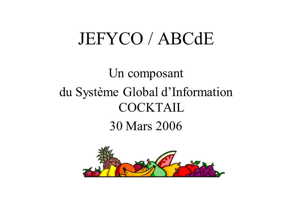 JEFYCO / ABCdE Un composant du Système Global dInformation COCKTAIL 30 Mars 2006