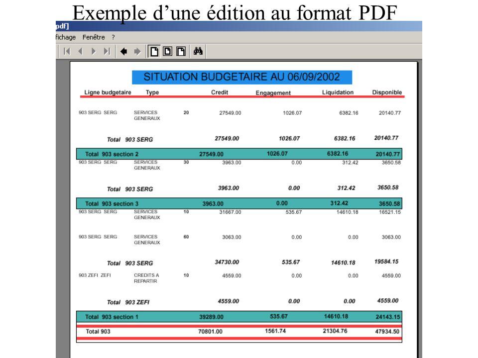 Exemple dune édition au format PDF