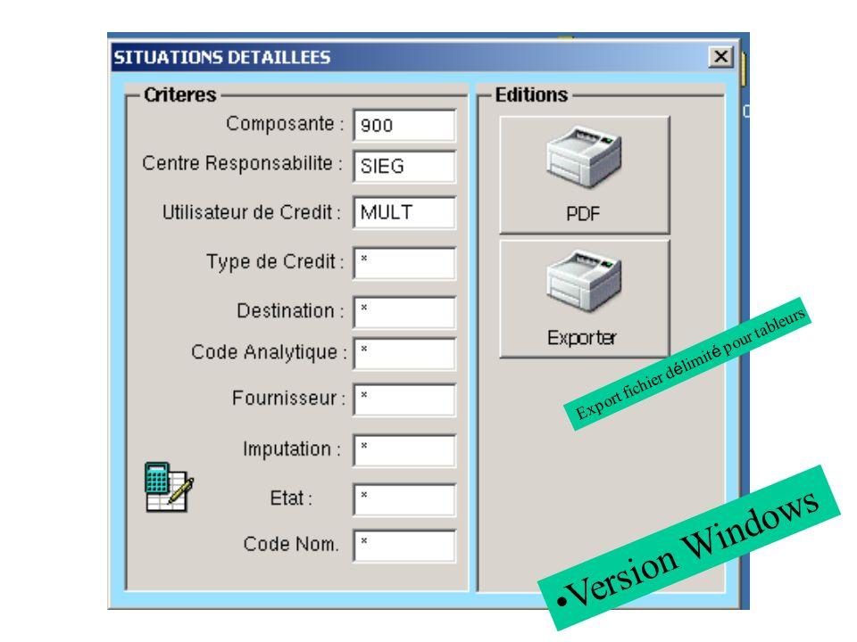 Export fichier d é limit é pour tableurs