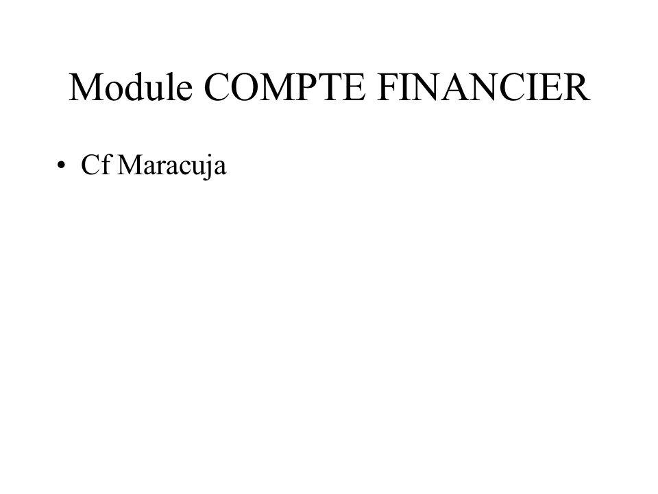 Module COMPTE FINANCIER Cf Maracuja