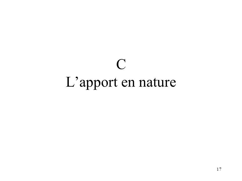 17 C Lapport en nature
