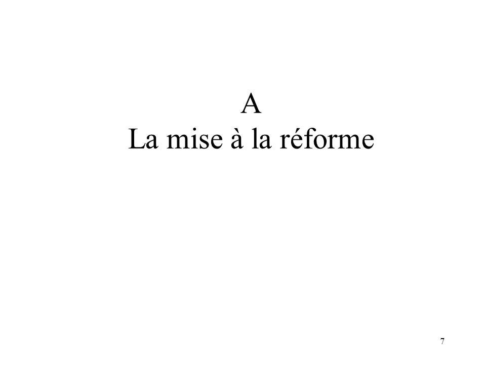 7 A La mise à la réforme