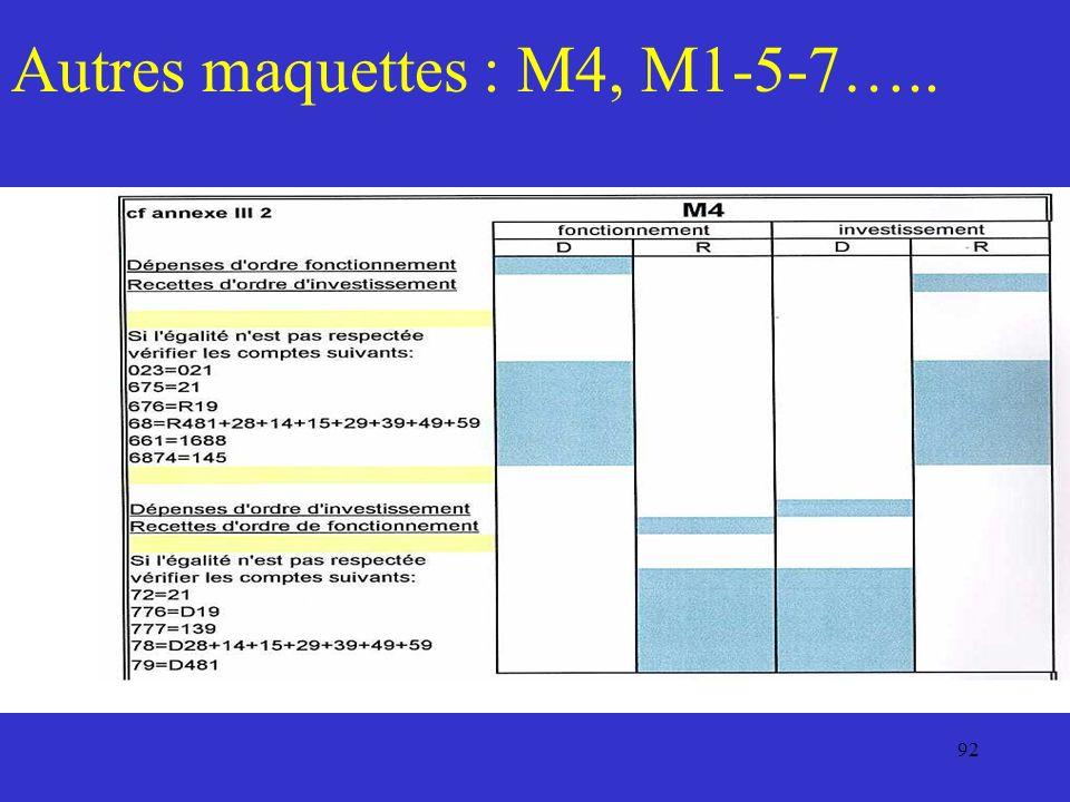 92 Autres maquettes : M4, M1-5-7…..