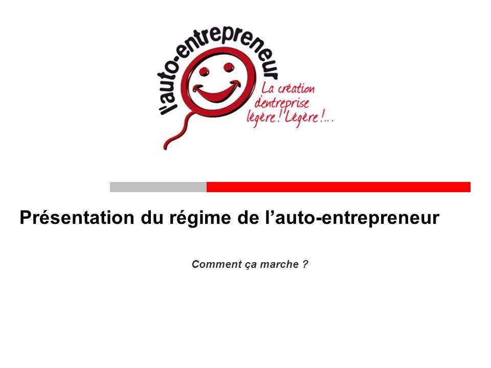 Présentation du régime de lauto-entrepreneur Comment ça marche ?