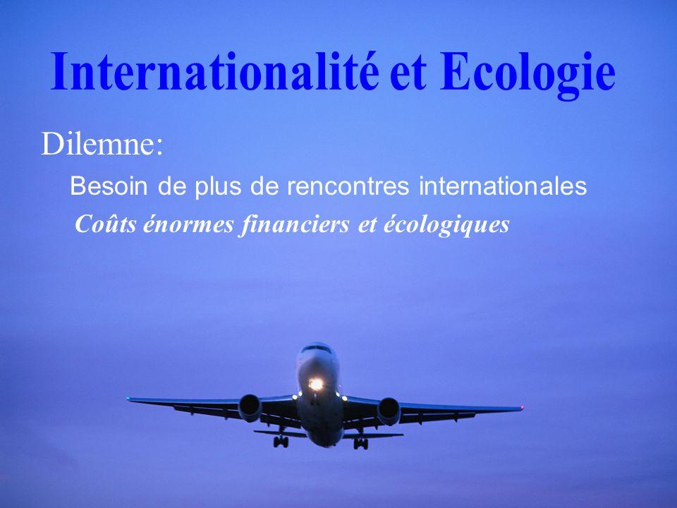 Dilemne: Besoin de plus de rencontres internationales Coûts énormes financiers et écologiques