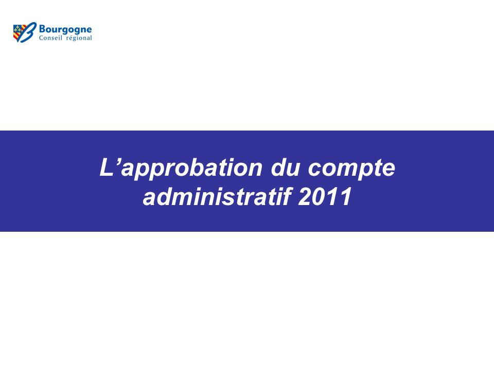 Lapprobation du compte administratif 2011