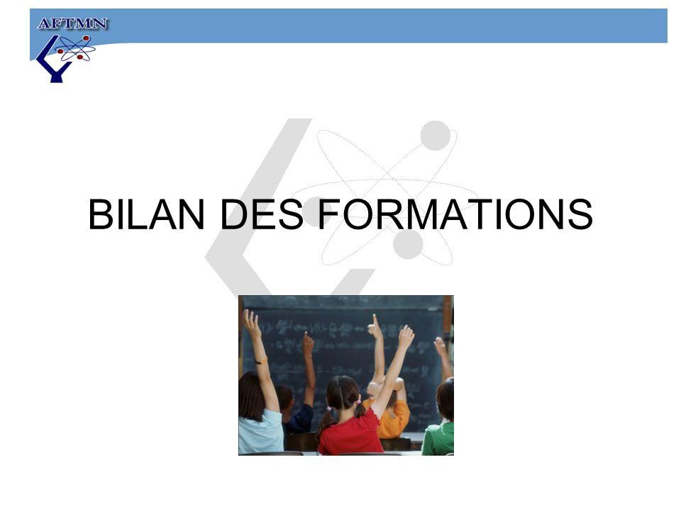 BILAN DES FORMATIONS