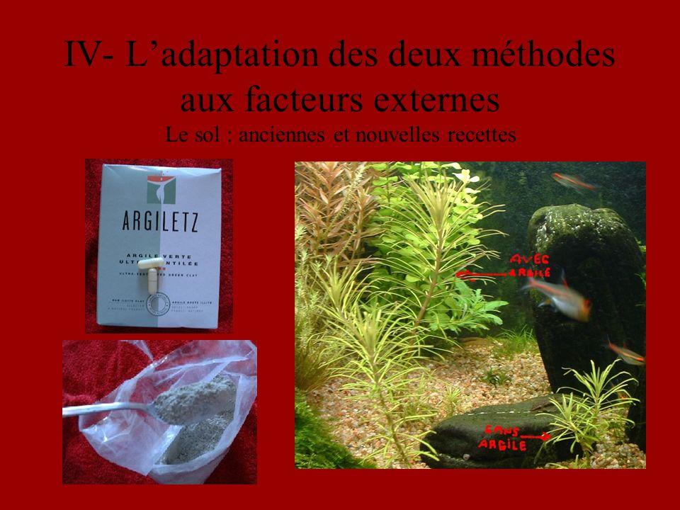 IV- Ladaptation des deux méthodes aux facteurs externes Le sol : anciennes et nouvelles recettes