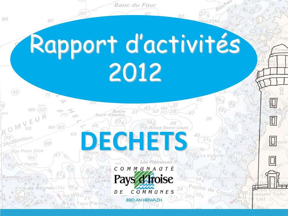 DECHETS Rapport dactivités 2012