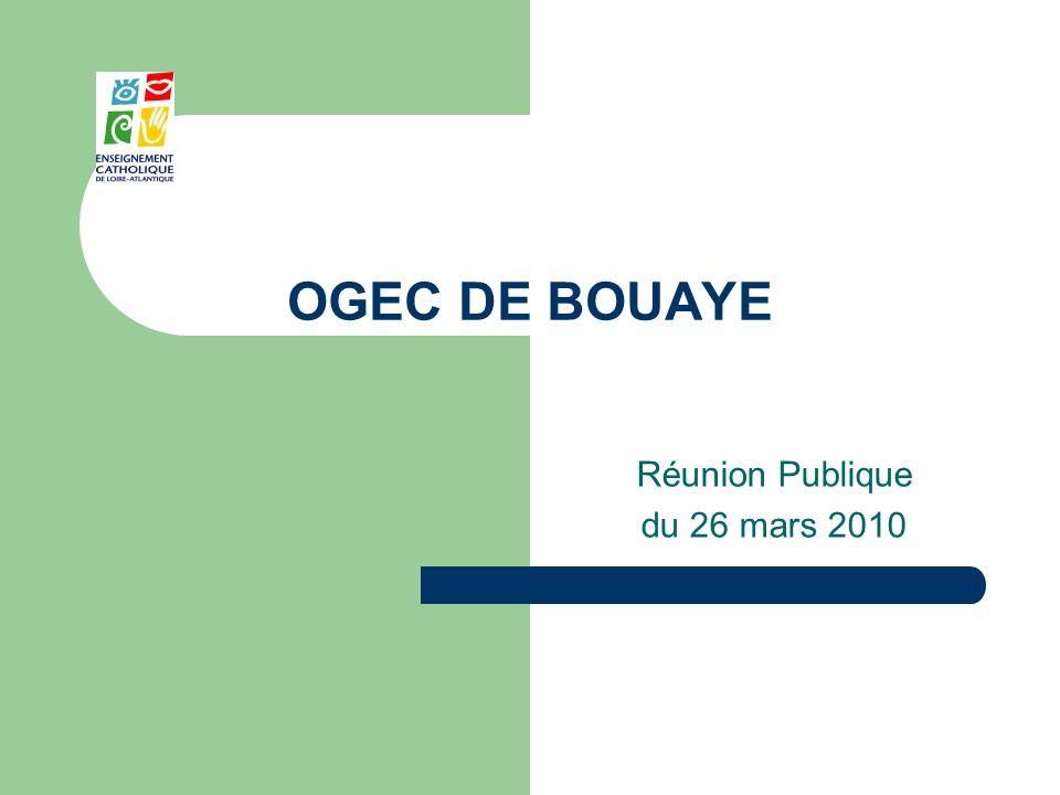 OGEC DE BOUAYE Réunion Publique du 26 mars 2010
