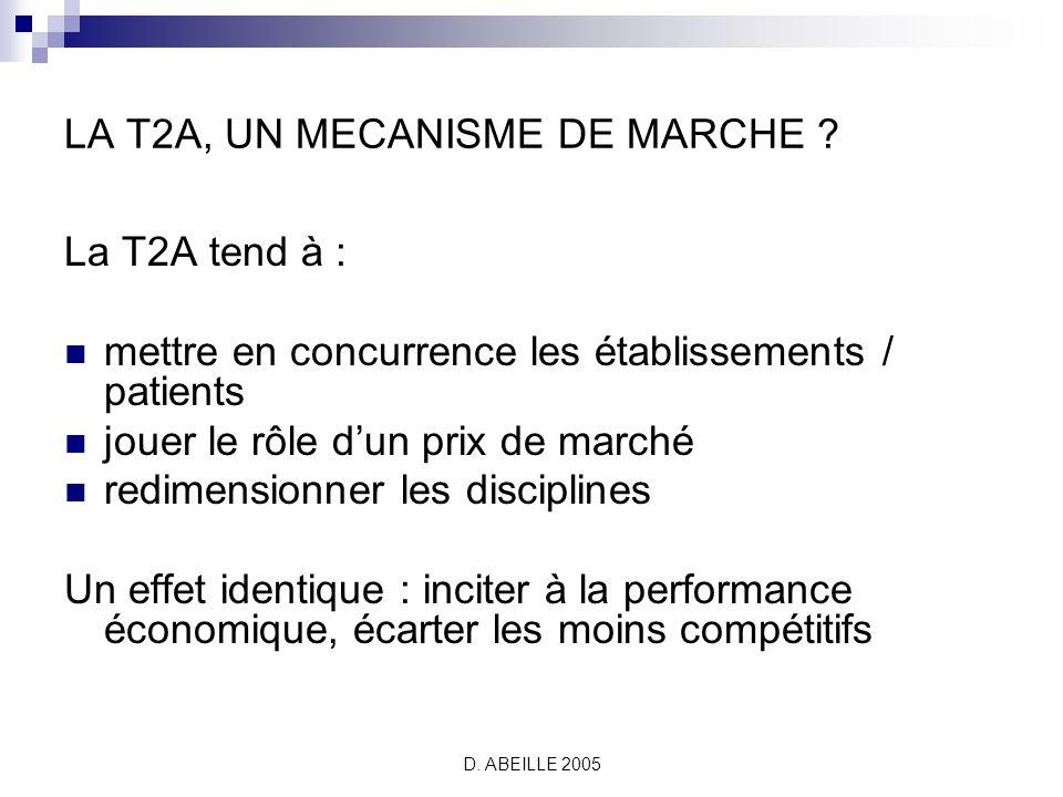 D.ABEILLE 2005 LA T2A, UN MECANISME DE MARCHE .