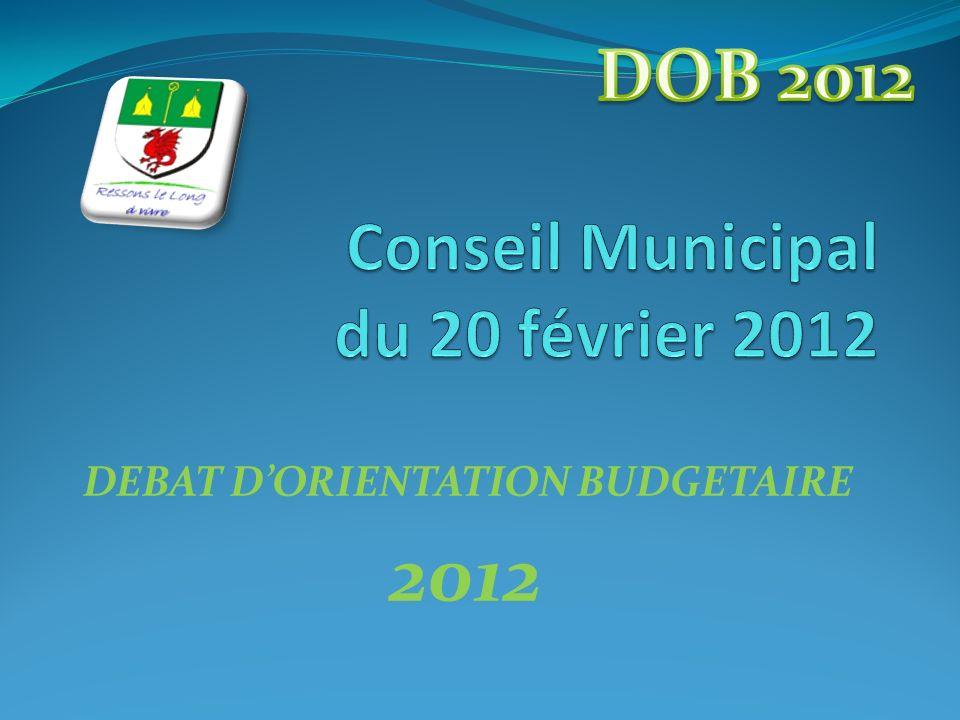 DEBAT DORIENTATION BUDGETAIRE 2012