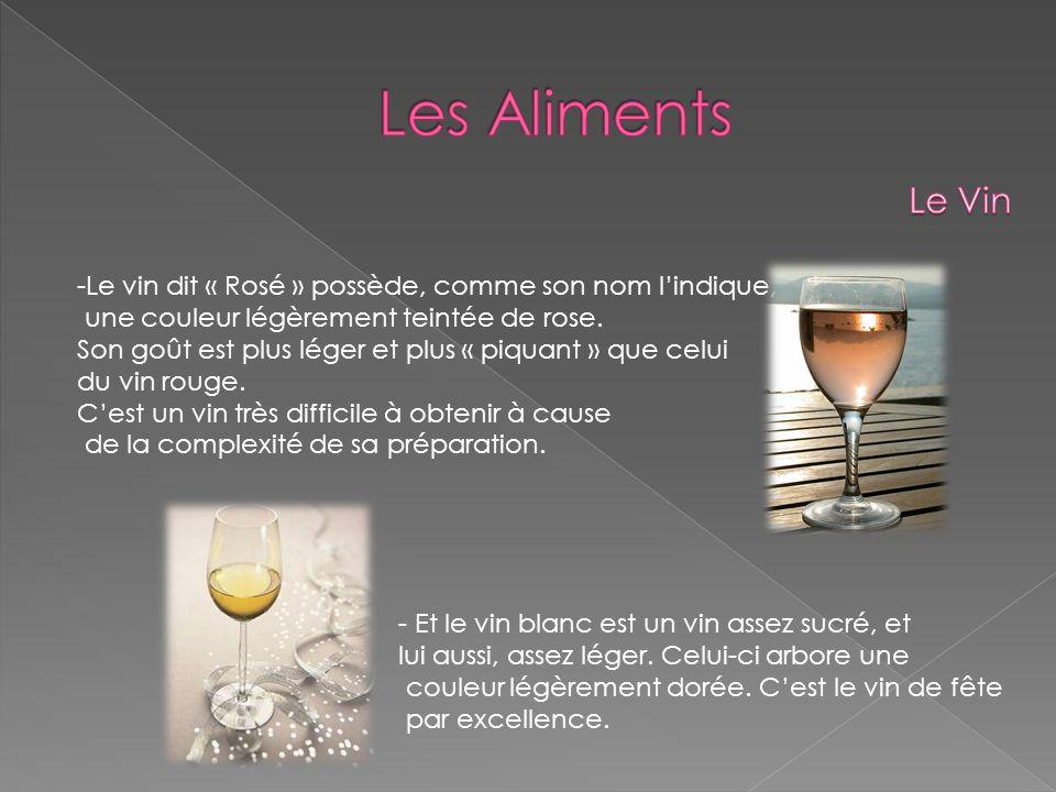 - Enfin le Champagne, la boisson « des grands évènements ».